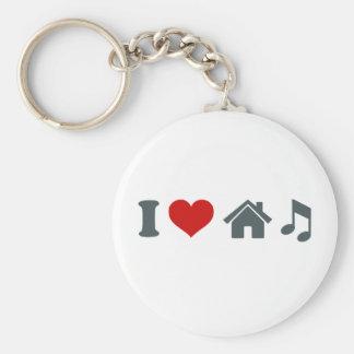 Música de la casa del amor llaveros
