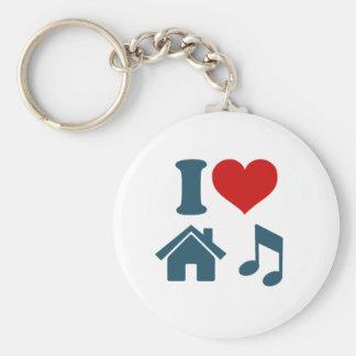 Música de la casa del amor llaveros personalizados