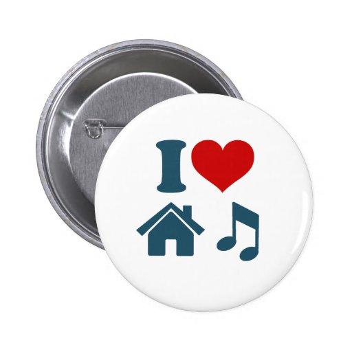 Música de la casa del amor pin redondo 5 cm