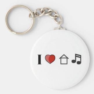 música de la casa del corazón i llavero redondo tipo pin