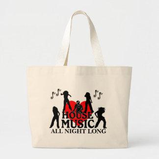 Música de la casa durante toda la noche bolsa de mano