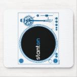 Música de la cubierta de DJ de la placa giratoria  Tapete De Raton