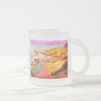 música de la ensenada de la playa tazas de café