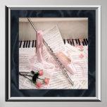Música de la flauta y del poster de las llaves