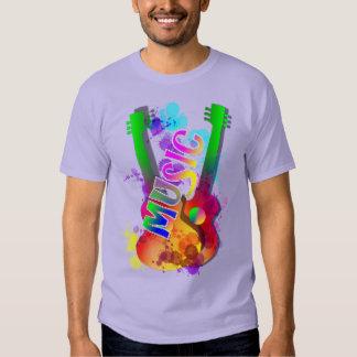 Música de la guitarra del arco iris temática poleras