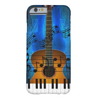 Música de la guitarra y del teclado funda de iPhone 6 barely there