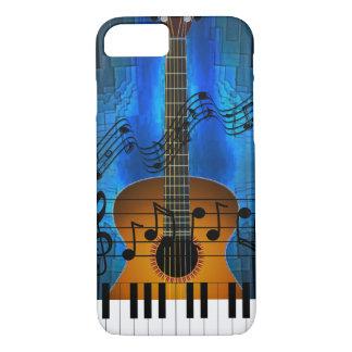 Música de la guitarra y del teclado funda iPhone 7
