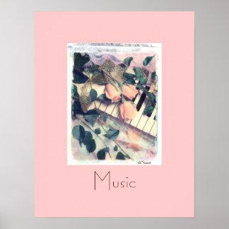 música de la melodía del piano, Al Riccio Póster
