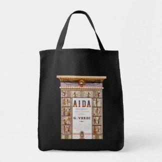 Música de la ópera del vintage, egipcio Aida de Bolsa Tela Para La Compra
