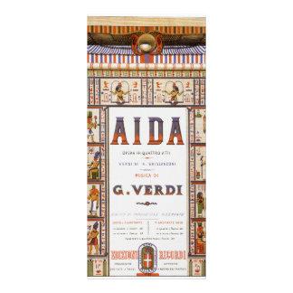 Música de la ópera del vintage, egipcio Aida de Diseño De Tarjeta Publicitaria