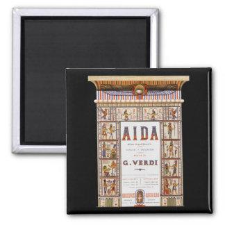 Música de la ópera del vintage, egipcio Aida de Imán Cuadrado