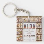 Música de la ópera del vintage, egipcio Aida de Llaveros