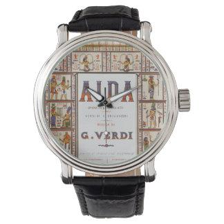 Música de la ópera del vintage, egipcio Aida de Reloj