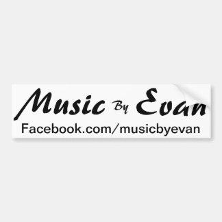 Música de la pegatina para el parachoques Facebook Pegatina Para Auto