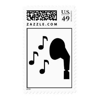Música de las notas de los auriculares sellos