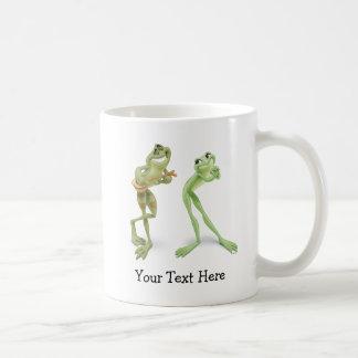 Música de las ranas tazas de café