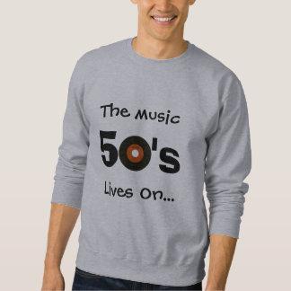 música de los años 50 sudadera