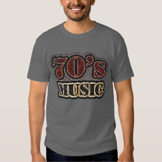 Música de los años 70 del vintage - camiseta playeras