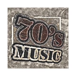 Música de los años 70 del vintage - lona envuelta impresión de lienzo