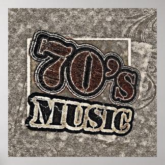 Música de los años 70 del vintage - poster
