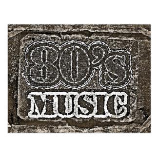 Música de los años 80 del vintage - postales