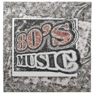 Música de los años 80 del vintage - servilletas de