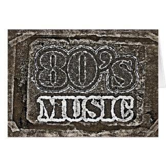 Música de los años 80 del vintage - tarjetas de fe
