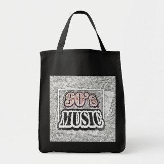 Música de los años 90 del vintage - bolsos bolsa tela para la compra
