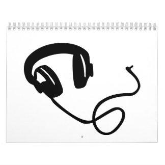 Música de los auriculares calendario
