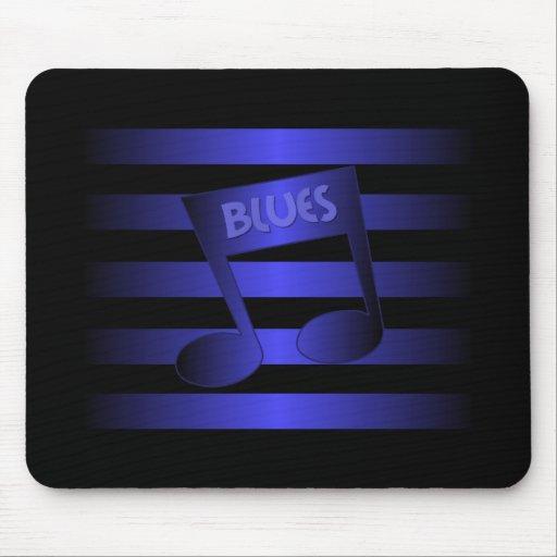 música de los azules alfombrillas de ratón