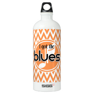 Música de los azules; Chevron anaranjado y blanco