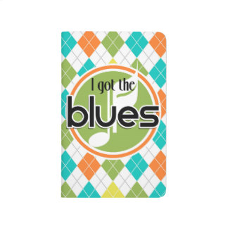 Música de los azules; Modelo colorido de Argyle Cuaderno