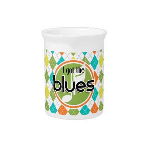 Música de los azules; Modelo colorido de Argyle Jarras De Beber