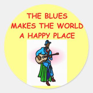 música de los azules pegatinas redondas