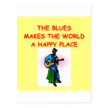 música de los azules postales