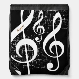 música de los clefs agudos personalizada mochilas
