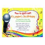 Música de los niños/canto/Karaoke invitación