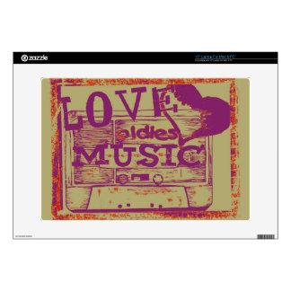 Música de los oldies del amor del vintage skins para portátil