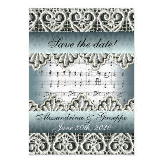 Música de marzo de boda con reserva del cordón la invitaciones magnéticas