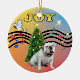 Música de Navidad - dogo inglés blanco Ornamentos De Reyes