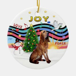 Música de Navidad - sabueso Ornamentos De Navidad