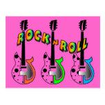 Música de neón de la guitarra eléctrica del rollo postal
