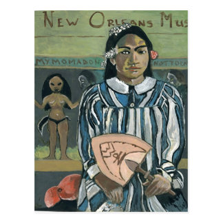 Música de New Orleans, fan de WWOZ Tarjetas Postales