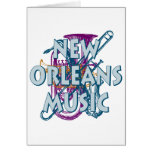 Música de New Orleans Tarjeta De Felicitación