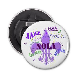 Música de NOLA New Orleans Abrebotellas Redondo