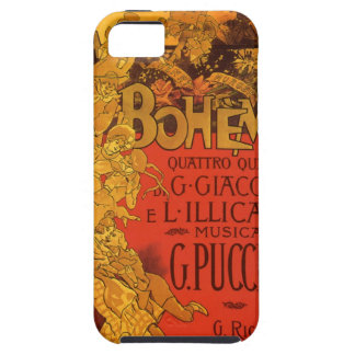 Música de Nouveau del arte del vintage; Ópera de B iPhone 5 Case-Mate Cárcasas