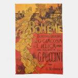 Música de Nouveau del arte del vintage; Ópera de B Toalla De Mano
