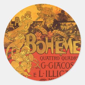 Música de Nouveau del arte del vintage Ópera de B Pegatina