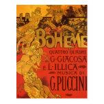 Música de Nouveau del arte del vintage; Ópera de B Tarjeta Postal