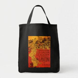 Música de Nouveau del arte del vintage, ópera de Bolsa Tela Para La Compra